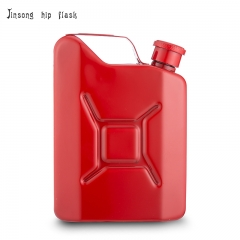 Shipping free 5oz Red Jerry can hip flask