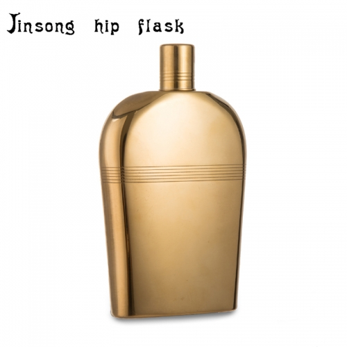 9OZ Golden plate hip flask