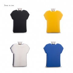 powder coated T-shirt hip flask 5oz , any color can be free choose