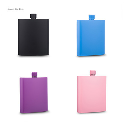shipping free  7OZ colored coated  stainless steel flask