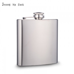 shipping free 6 oz. matt finish  stainless steel hip flask ,other  capacity is avaiblable